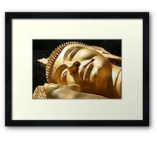 Sleeping Buddha Framed Print
