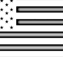 American Flag, STARS & STRIPES, USA, America, White on Black Sticker