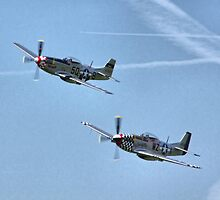Twin P51s - In Syncro by Colin J Williams Photography