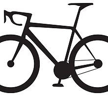 Racing Bike, Road Bike, Bicycle, Racing Bicycle, Push bike, Black on White by TOM HILL - Designer