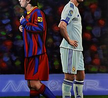 Lionel Messi and Cristiano Ronaldo by PaulMeijering