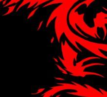 Flying Fire Dragon Design Sticker