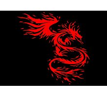 Flying Fire Dragon Design Photographic Print
