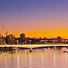 Brisbane's Captain Cook Bridge at sunset by PhotoJoJo