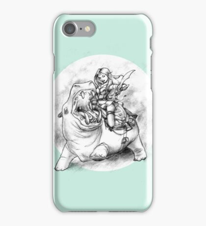 Riding Hippo iPhone Case/Skin