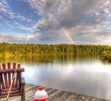 Rainbow over Lake Sticker