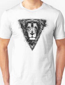 Cool Lion Head Design in Black Ink T-Shirt