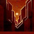 Valles Marineris - Mars - Travel Poster by Ron Guyatt