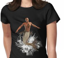 Native Merman Bursting from Water Womens Fitted T-Shirt