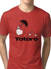 Totoro Walking Tri-blend T-Shirt