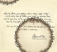 Edgar allan poes handwritten poem  by mshorts0305