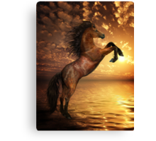 Freedom - Rearing Horse Artwork Canvas Print