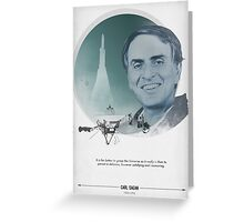 Carl Sagan Poster Greeting Card