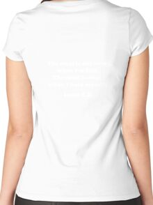"""Louis CK """"The meal is not over when I'm full. The meal is over when I hate myself."""" Women's Fitted Scoop T-Shirt"""