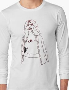 Knitted Lady #2 Long Sleeve T-Shirt