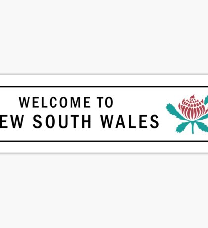 Welcome to New South Wales Road Sign, Australia Sticker