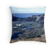 Rano Kau Volcanic Crater, Easter Island Throw Pillow