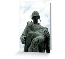Soldier Statue At Liberty State Park Greeting Card