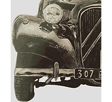 Vintage car painting Photographic Print
