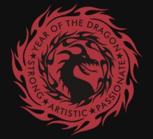 Chinese Zodiac Year of The Dragon Graphic Design Kids Tee