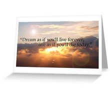Life Quote Greeting Card
