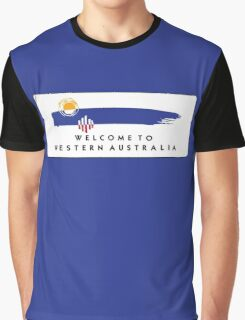Welcome to Western Australia Road Sign, Australia Graphic T-Shirt