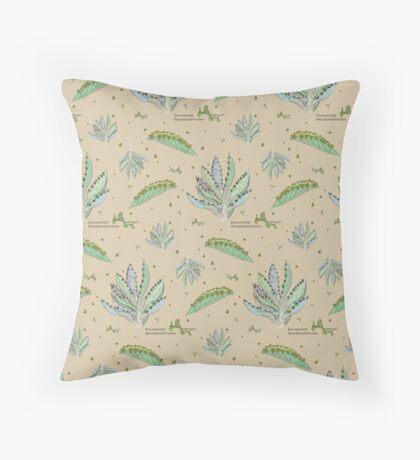 Kalanchoe Daigremontiana Pattern Throw Pillow