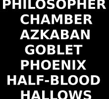 Harry Potter 7 Book Short Titles. by laurenpears