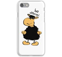Be Different 3 (The Black Sheep) iPhone Case/Skin