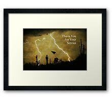 Thank You For Your Service  Framed Print