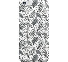 black & gray petals on white iPhone Case/Skin