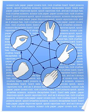 Rock Paper Scissors Lizard Spock by Dylan Coombe