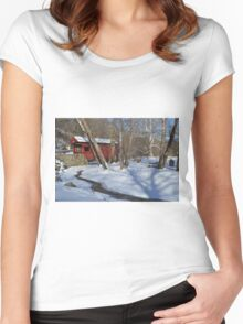 Snow Covered Mingo Women's Fitted Scoop T-Shirt