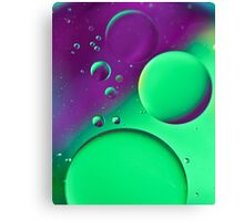 Bright Green & Purple Bubble Mix-iPhone Case Canvas Print
