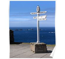 Iconic Lands End England Poster