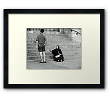 Please? Framed Print