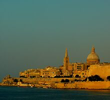 Valletta from Ta' Xbiex in the evening sun by leslievella64