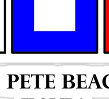 St Pete Beach Nautical Flag Saint Petersburg Sticker