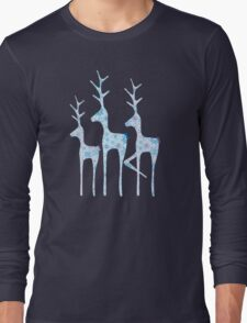 Snowflake Reindeer Long Sleeve T-Shirt