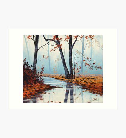 River Trees Art Print