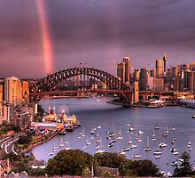 Afternoon Delight - Double Rainbow Sydney Harbour - The HDR Experience by Philip Johnson
