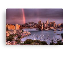 Afternoon Delight - Double Rainbow Sydney Harbour - The HDR Experience Canvas Print
