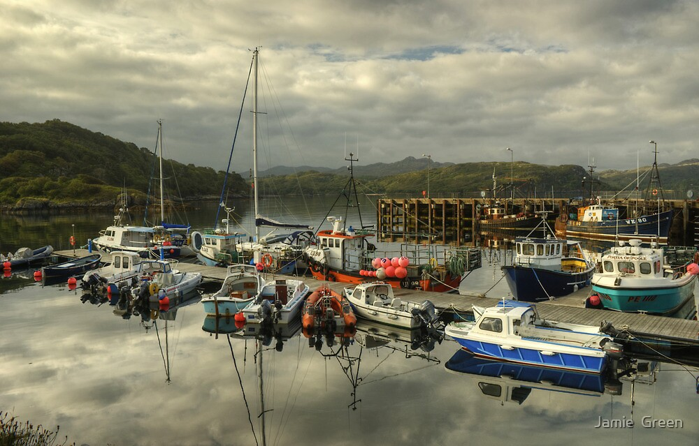 A Highland Harbour by Jamie  Green