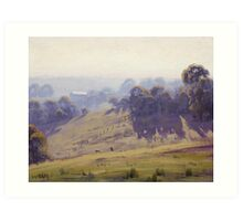 Hazy Summer Morning, Cottles Bridge - Vic Art Print