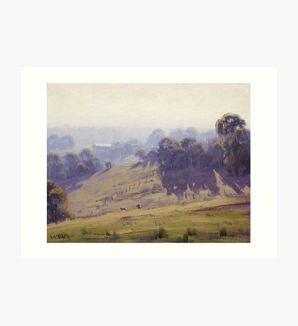 Hazy Summer Morning, Cottles Bridge - Vic Art Print
