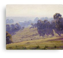 Hazy Summer Morning, Cottles Bridge - Vic Canvas Print