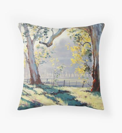 Morning Light Gums Throw Pillow