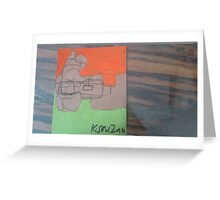 Abstract, Orange and Blue Greeting Card