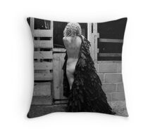 Black Cloak No.1 Throw Pillow