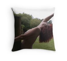Wooden Post No.3 Throw Pillow